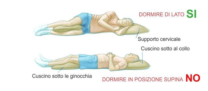 posizioni per smettere di russare